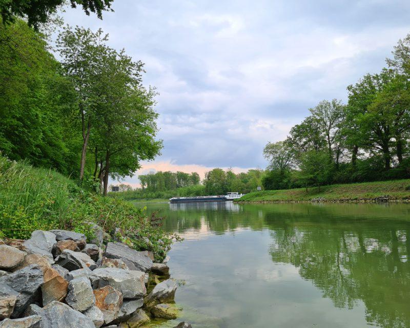 Einmuendung in den Dortmund-Ems-Kanal bei Luedinghausen