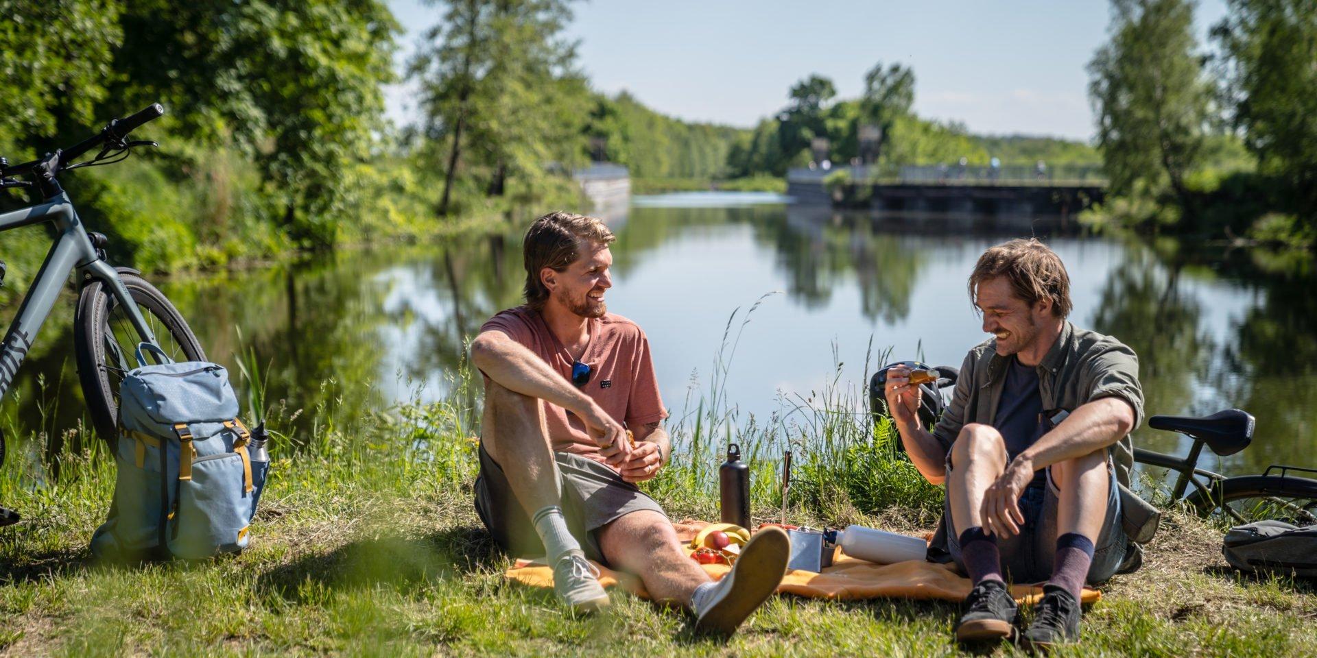 Pause und Picknick am Wasser auf der Hohe Mark RadRoute
