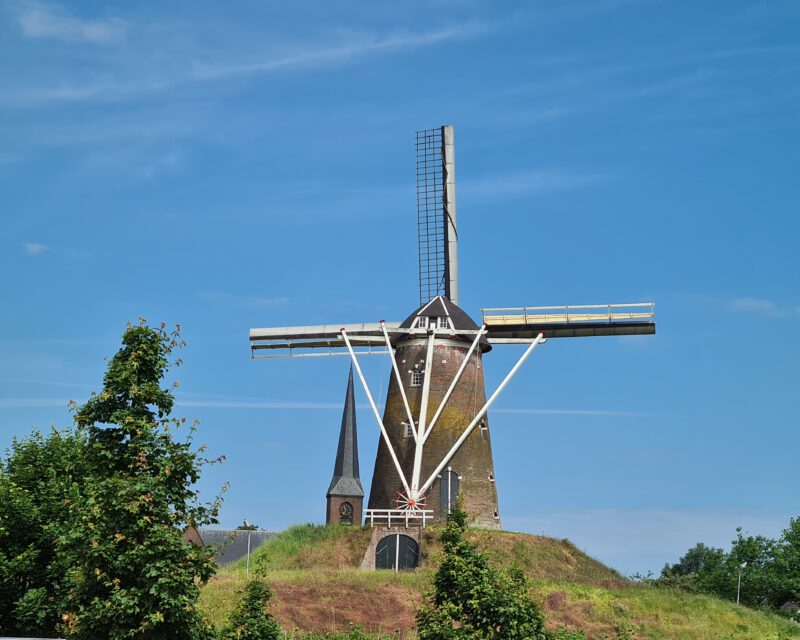Windmuehle in Bredevoort auf Tagestour Hohe Mark RadRoute